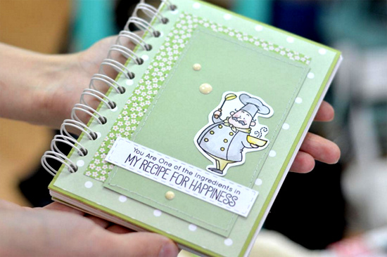 Birdie Brown Recipe for Happiness stamp set and Die-namics - Inna #mftstamps