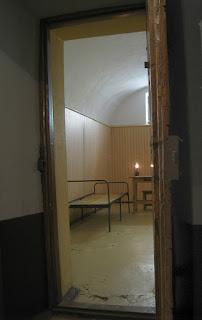Una celda de la cárcel, en la fortaleza de Pedro y Pablo