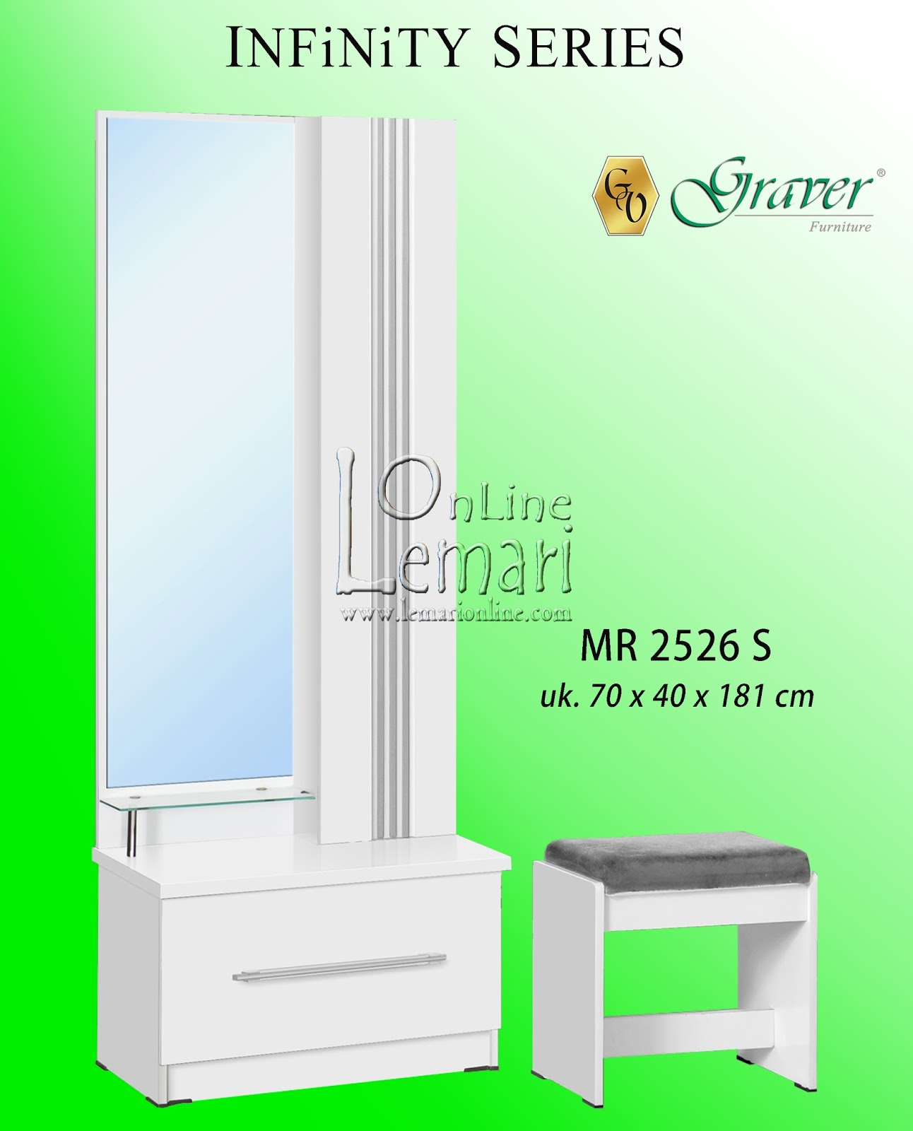 Graver Furniture Meja Rias Mr 92262 Daftar Harga Terkini Fcenter Siantano 905 Jawa Tengahdiyjawa Timur