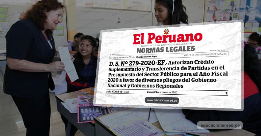 DEUDA SOCIAL 2020: Hasta 30 mil soles cobrarán Docentes, Cesantes, Jubilados y Personal Administrativo del Sector Educación (D. S. Nº 279-2020-EF)