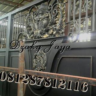 Pintu Gerbang Besi Tempa yang telah dipasang di Bali dengan desain Pintu Gerbang besi Temapa modern
