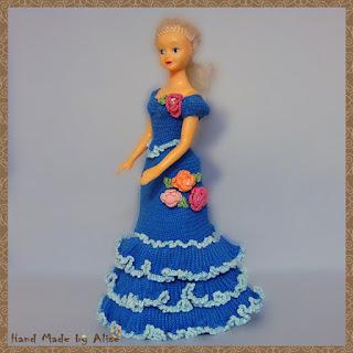 платье для Барби крючком