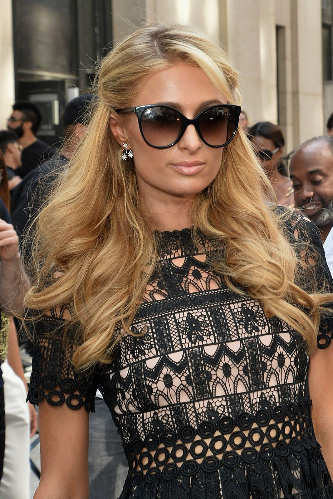 HQ Photos of Paris Hilton in Black dress Out And About In New York