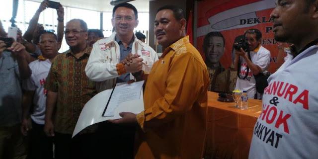 Partai Hanura Resmi Dukung Ahok di Pilkada DKI Jakarta 2017