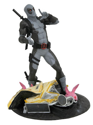 San Diego Comic-Con 2019 Exclusive Marvel Gallery SHIELD Captain Marvel, X-Force Taco Truck Deadpool & X-Force X-23 Statues by Diamond Select Toys x Previews
