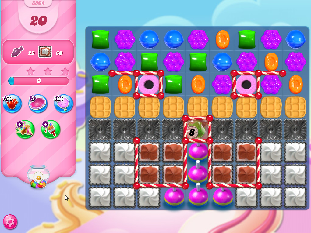 Candy Crush Saga level 3504