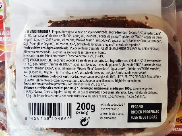 VeggieBurger de NaturSoy - Hamburguesas 100% vegetales y ecológicas