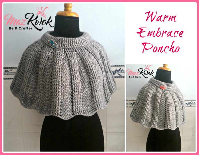 Warm Embrace Poncho Free Crochet Pattern