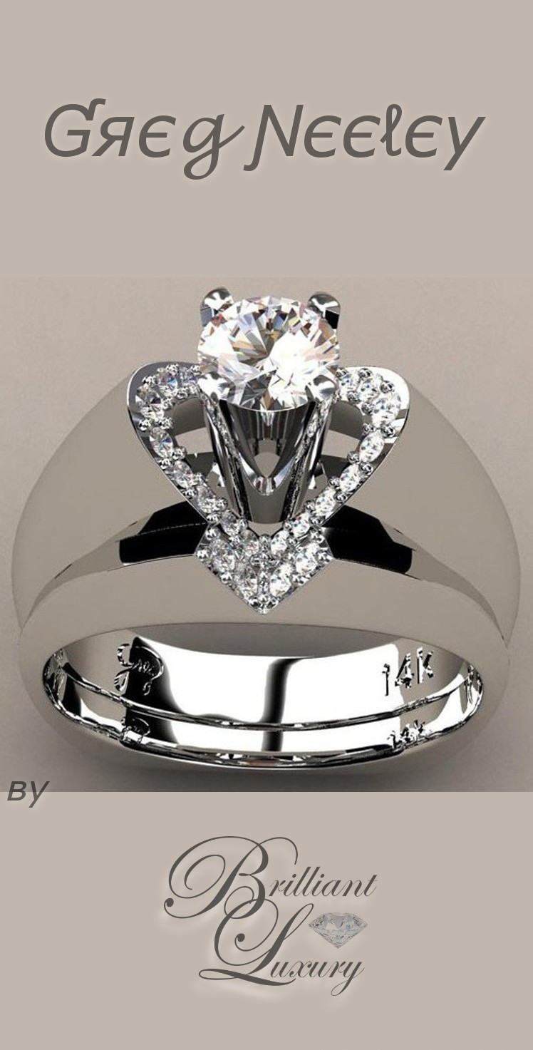 "Brilliant Luxury ♦ Greg Neeley ""V"" Top Princess Engagement Set"