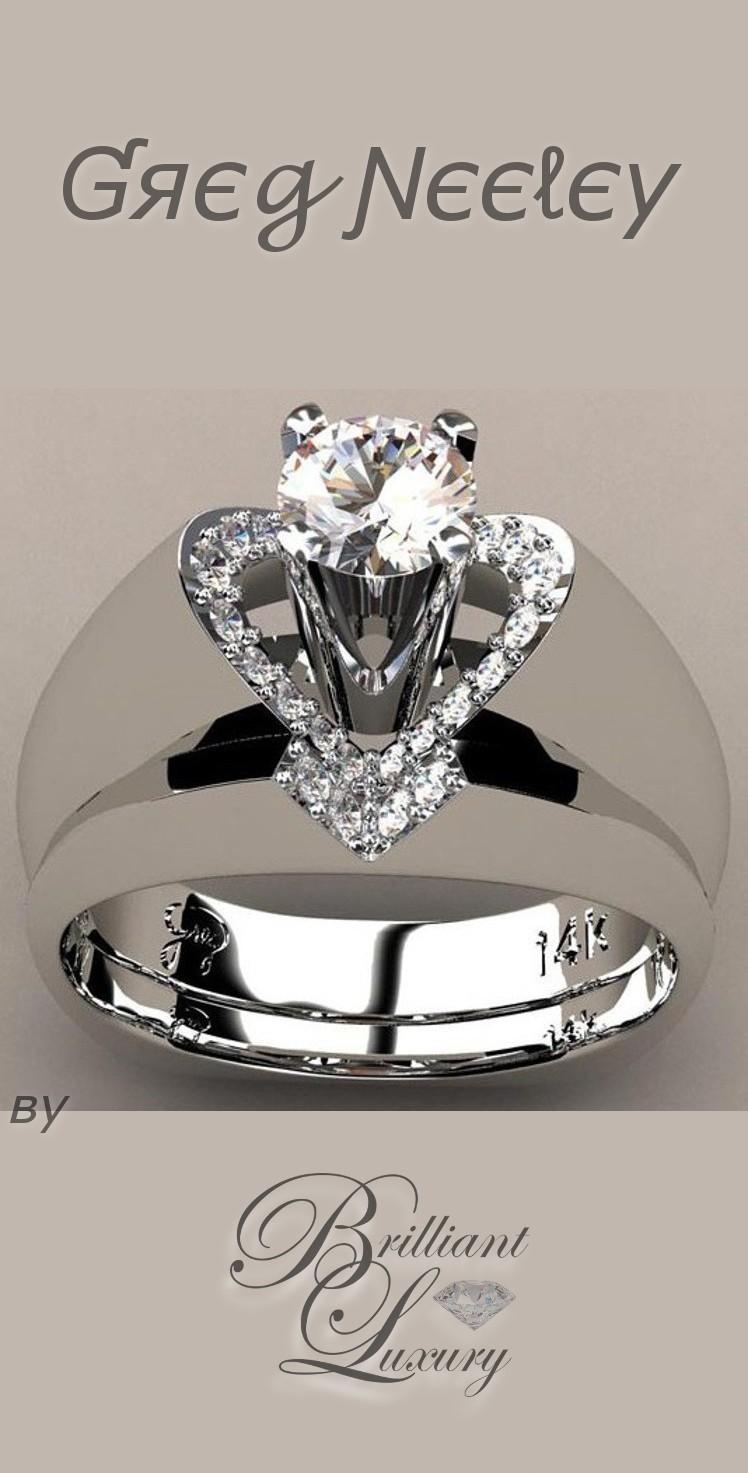 Brilliant Luxury ♦ Greg Neeley v top princess engagement set