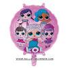 Balon Foil Bulat Boneka LOL