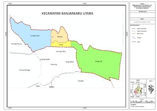 Peta Banjarbaru Utara