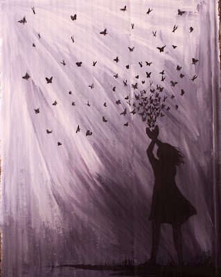 Butterfly Girl painting