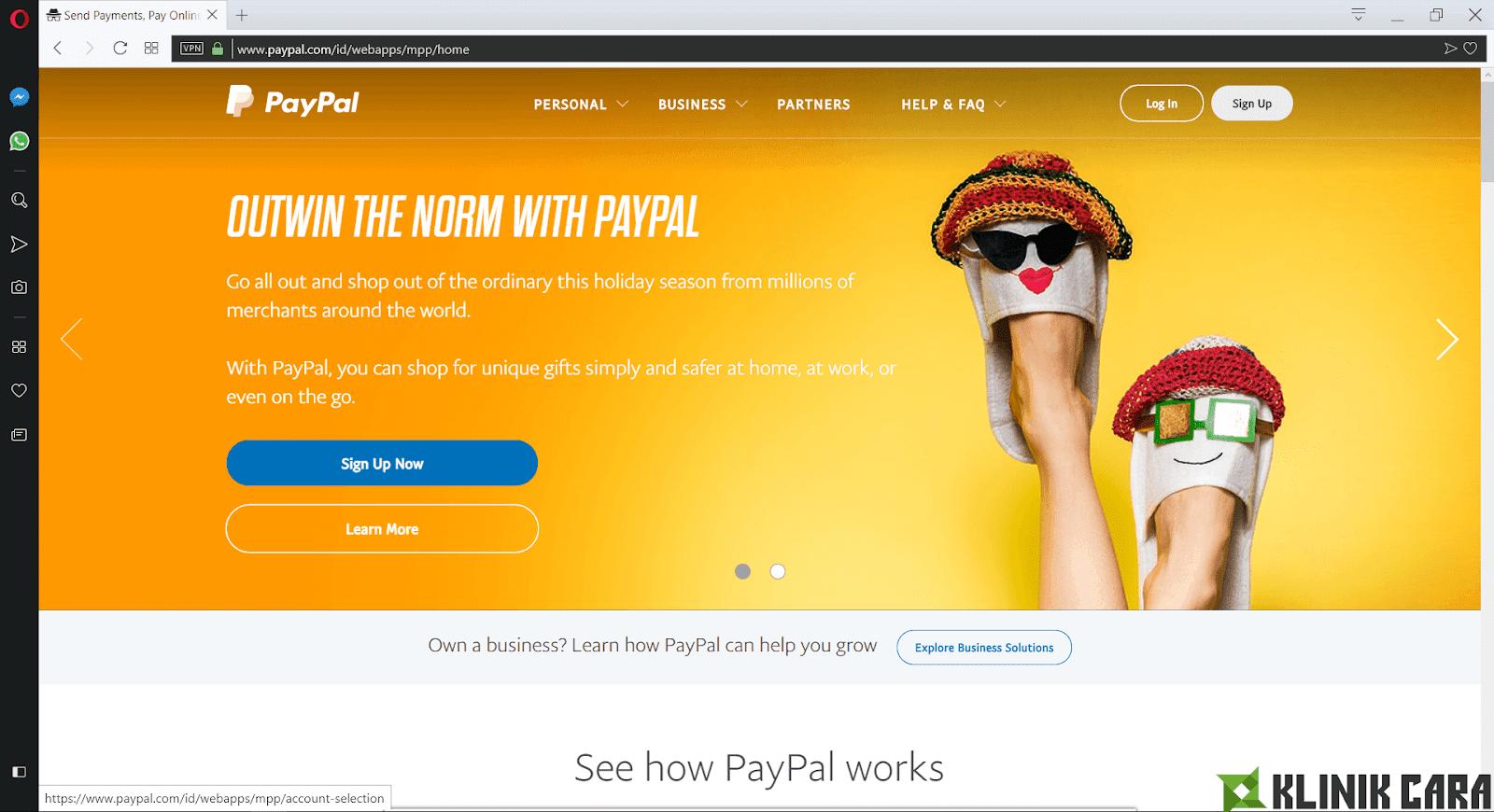 Langkah-langkah Membuat Akun PayPal