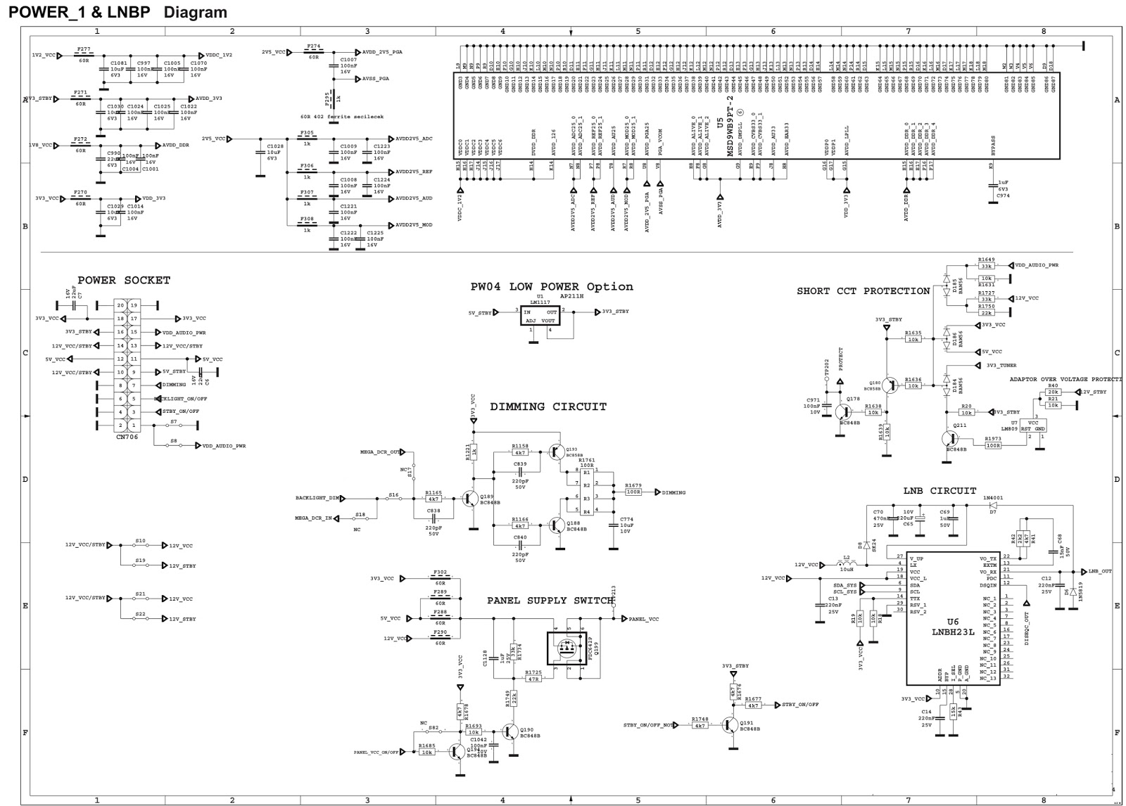 hight resolution of sharp lc 32le140e lcd tv 17mb62 chassis circuit diagram lcd tv diagram sharp lc 32le140e lcd