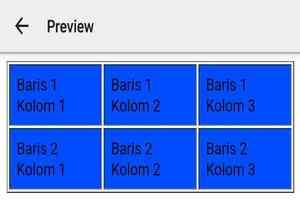 Table html dengan warna