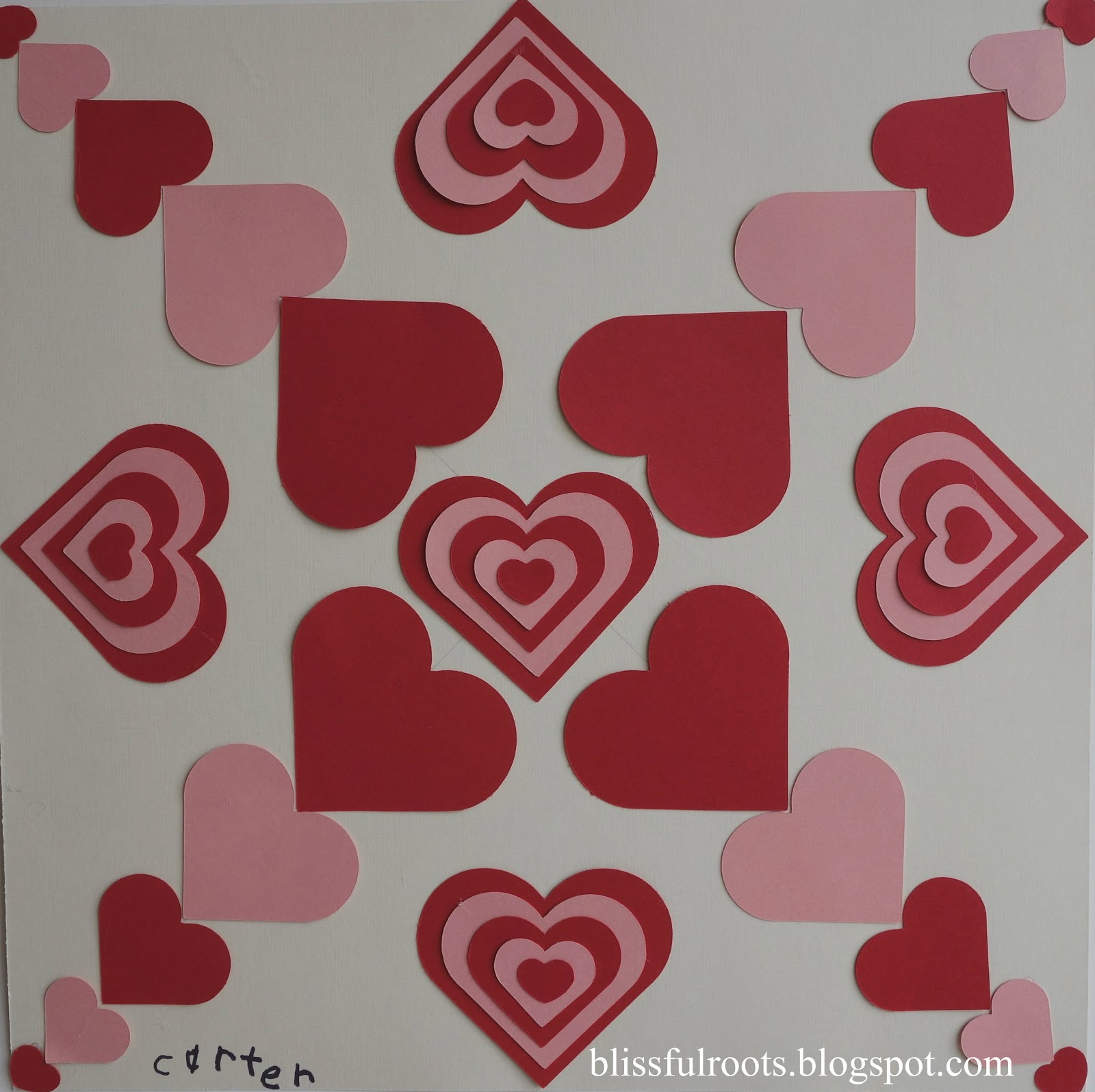 Blissful Roots Symmetrical Valentine Art Project