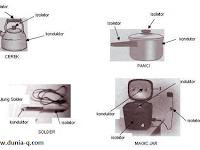 benda yang termasuk kedalam Konduktor dan Isolator