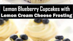 #Best #Dessert #Lemon #Blueberry #Cupcakes #with #Lemon #Cream #Cheese #Frosting