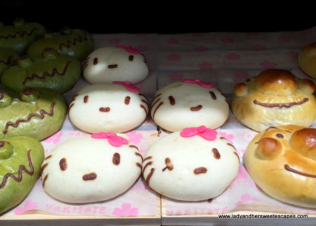 character buns in Yakitate bakery