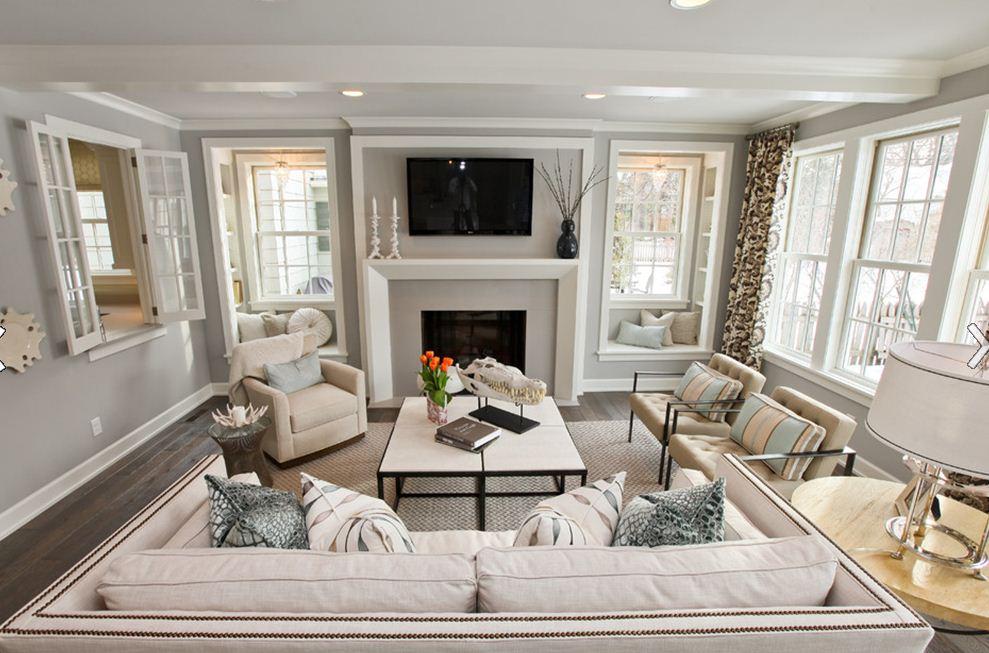 Beige Ivory Living Room Decor Design Interior