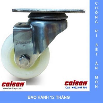 Bánh xe đẩy inox vật liệu bánh xe Nylon | 2-4456-254 | www.banhxepu.net