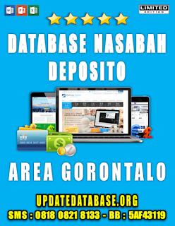 Jual Database Nasabah Deposito Gorontalo