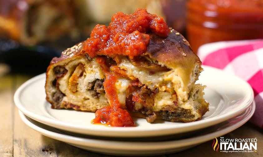 http://www.theslowroasteditalian.com/2014/03/meat-lovers-pizza-pretzel-roll-recipe.html