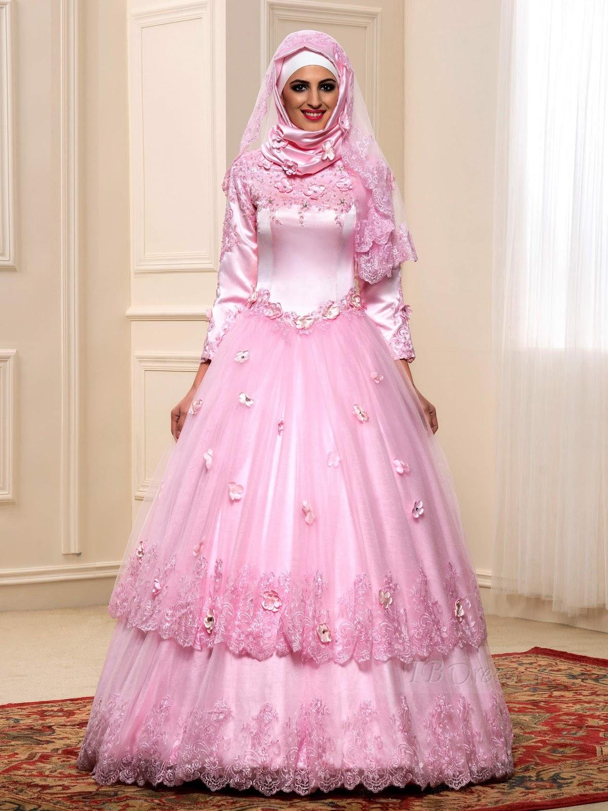 12 Gaun Pengantin Muslim Modern Terbaru gebeet com