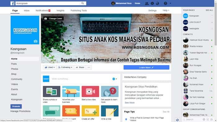 Mengatasi fanspage facebook yang tidak bisa ganti nama url