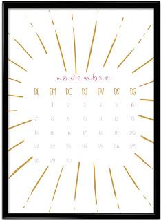 Calendari imprimible novembre