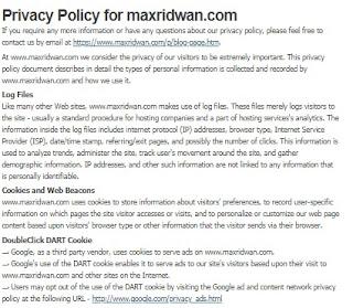 cara mudah dan cepat membuat privacy policy