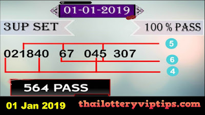 Thai lottery exclusive 3up pairs direct Set VIP 01 January 2019