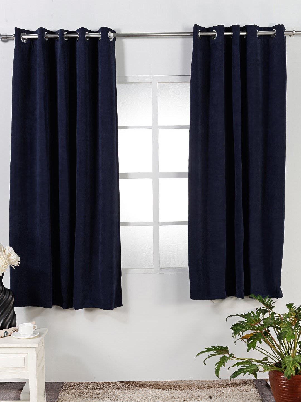 Diseo de Interiores Casas Maravillosas Cortinas Azul Marino