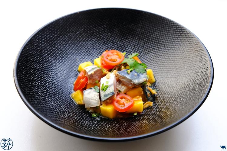 Le Chameau Bleu - Blog Cuisine  - Recette de tartare de maquereau à la mangue - Poisson Maquereau Recette - Recette Tartare de poisson exotique