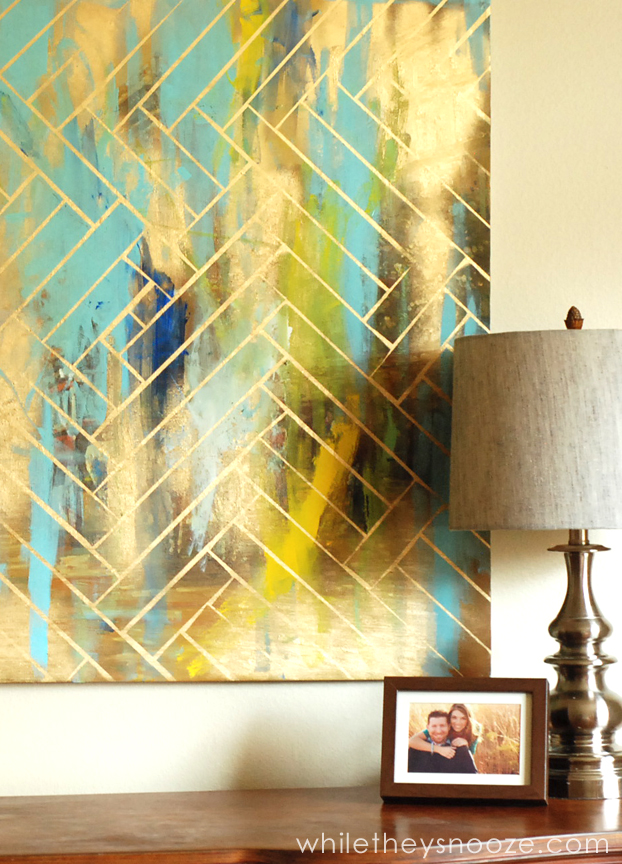 While they snooze diy herringbone metallic artwork easy cheap - How to prepare walls for painting in a few easy steps ...