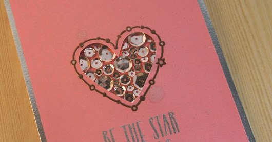 Sequined Window Card