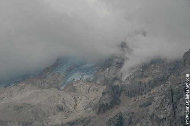 Marmolada glaciar Dolomitas viaje Italia