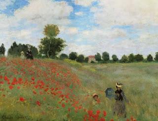 Les coquelicots à Argenteuil - Claude Monet
