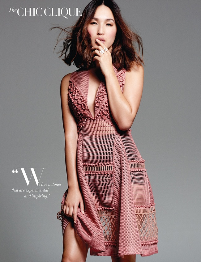 2016 SS Burberry Pink Lace & Sport Mesh Dress Editorials