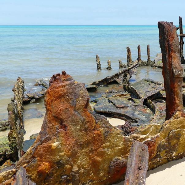 Fairlight Schiff Wrack Wreck Moreton Island Gerippe Kessel Dampfschiff