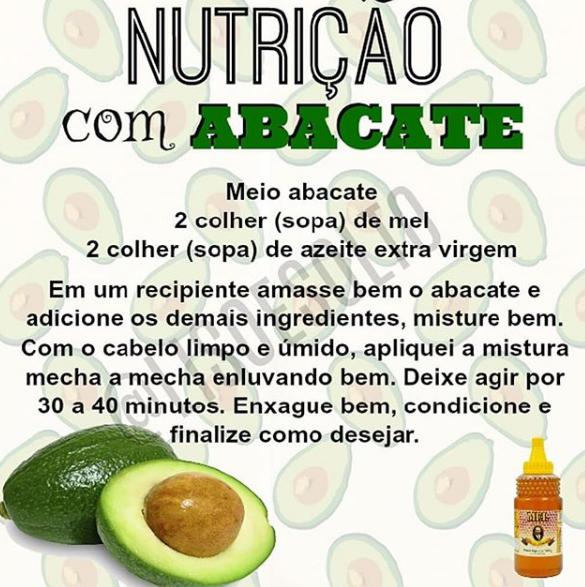 nutrição com abacate, nutrição com abacate e mel