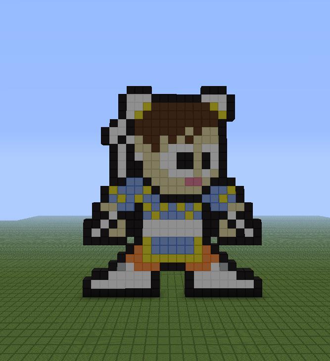 Minecraft Street: Minecraft Pixel Art Helper: Chun-li (Street Fighter