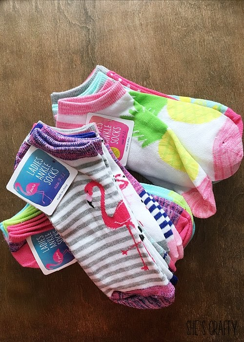 Easy and Inexpensive Girls Camp handouts, pillow treats or tuck in treats- socks