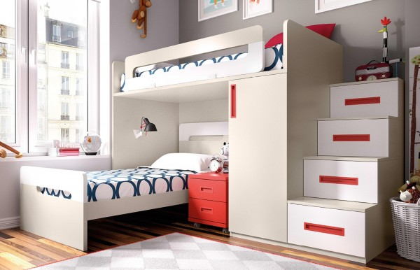 Blog dormitorios juveniles com dormitorios juveniles con - Camas en l para ninos ...