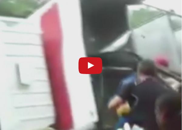 Saquearon camión cargado con chuletas en Maracaibo