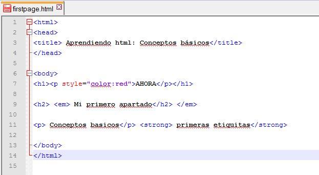 Reglas html