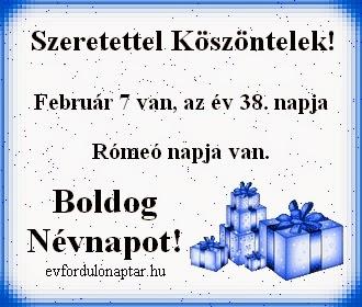 Február 7, Rómeó névnap