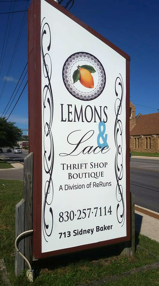 Lemons & Lace thrift store