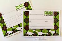 fill in the blank dinosaur invitations green